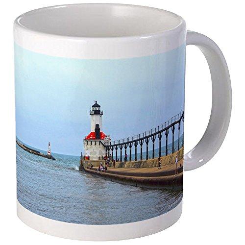 CafePress - Michigan City Lighthouse Mug - Unique Coffee Mug, Coffee - Michigan Lighthouse City