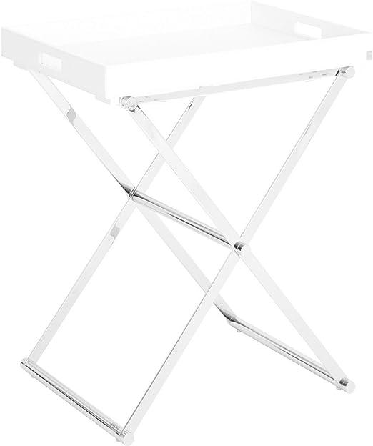 Unbekannt Loft Beistelltisch Weiss Satz von 2 l 55 x b 46 x h 45 cm
