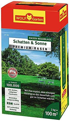 Wolf Garten Premium Rasen Schatten Sonne Lp100 3820040