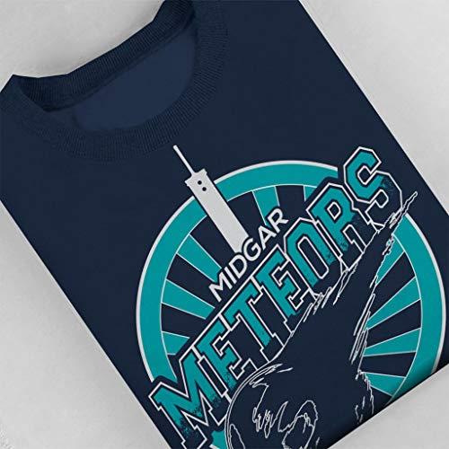 Cloud Cloud Cloud Fantasy Midgar Midgar Midgar Meteors Blue Navy Final City Sweatshirt 7 Women's wq7CWwraZf