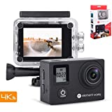 Element Works Waterproof 4K wide Angel Action Camera | Best for Vlog, Spy, Sports, Underwater Action wearable camera | Action Camera Bundle For Catching Amazing Moments