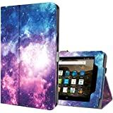 Ztotop Folio Case for All-New Amazon Fire 7 Tablet (7th Generation, 2017 Release) - Smart Cover Slim Folding Stand Case with Auto Wake/Sleep for Fire 7 Tablet,Galaxy