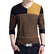 Womleys Mens Casual V Neck Flexible Knit Pullover Sweater Cotton Knitwear