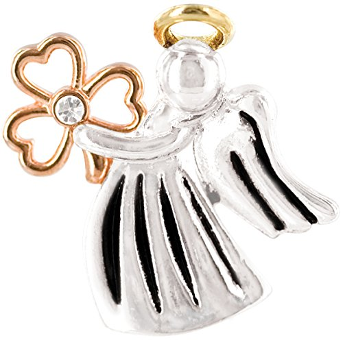 Sterling Love Birds Pin - Wings and Wishes Angel Tac Pin, Irish Angel