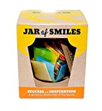 """Smiles by Julie Success & Inspiration in a Jar. Month of Thoughtful & Motivational Quotations in a 314ml Orcio Glass Jar 31 Multi-Colored Quotes. """"Be The Reason Someone Succeeds Today""""- Gift box."""
