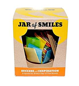 """Success & Inspiration in a Jar. Month of Thoughtful & Motivational Quotations in a 314ml Orcio Glass Jar. Perfect Gift. 31 Multi-Colored Quotes. """"Be The Reason Someone Succeeds Today""""- Gift box."""