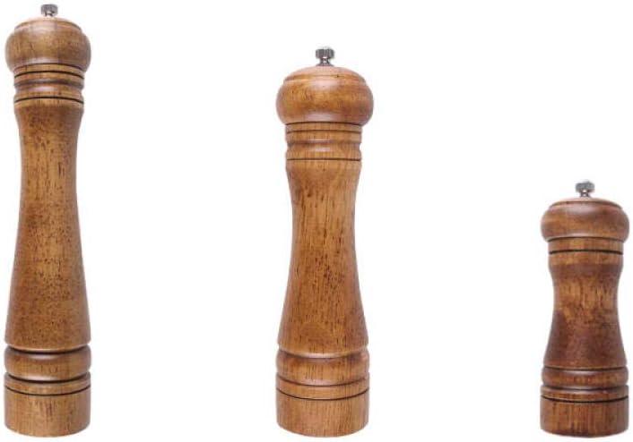 Salz- und Pfeffermühle, manuelle Gewürzmühle, Gewürzglas, mit einstellbarer Grobheit, Holz, Küche, Restaurant, Grill, Picknick-10 Zoll (Beutel) 8 Inches (Bag)