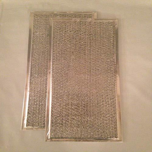 2-PACK Aluminum Range Hood Microwave Filter-5-7/8x13-3/8x3/32