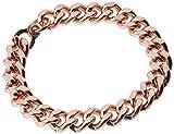 """Apex Copper Bracelet Wide Link Size 9"""", Burnished"""