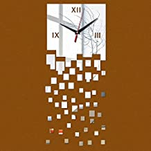 Wall stickers cc Time-Clock Mirrior Wall Clocks Watch Large 3D Diy Acrylic Mirror Real Fashion Living Room Modern ,Silver