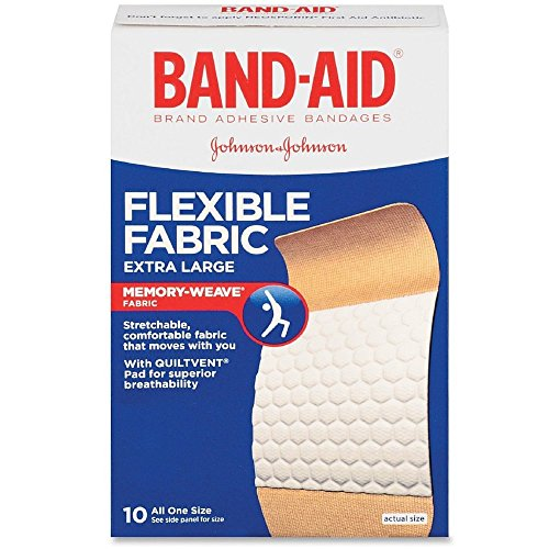 BAND-AID Flexible Fabric Bandages, Extra Large 10 ea (Pack of 6)