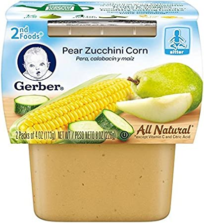 Gerber 2nd Foods Fruits & Vegetables - Pear Zucchini Corn - 4 oz - 2 ct
