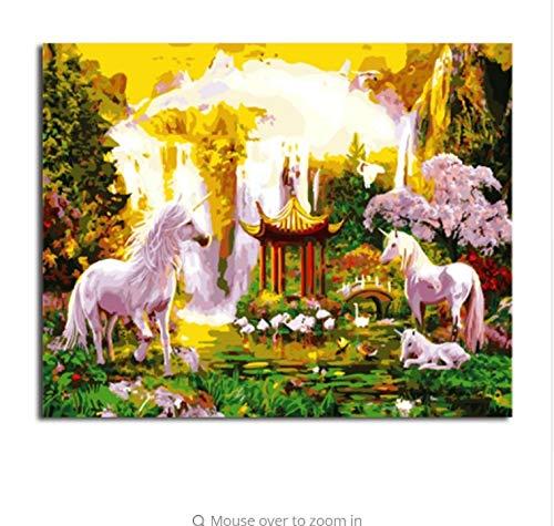 LIWEIXKY DIY Digitales Ölgemälde by Zahlen Von Pferden Malerei & Kalligraphie Wohnkultur Für Wohnzimmer Wandkunst - Rahmenlos - 40x50cm B07PNYJJQT   Heißer Verkauf
