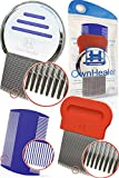 Head Lice Comb Set for Fast, Safe Premium Quality Removal of Lice Eggs