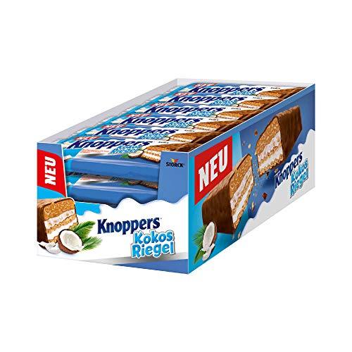 Knoppers KokosRiegel – (24 x 40g) – Der erste KokosRiegel auf Knoppers Art – Mit knusprigen Waffeln, leckerer Milch- & Kokoscreme & feinen Kokosraspeln in Karamell umhüllt von Vollmilchschokolade