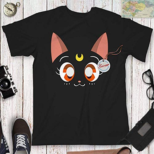 Black Cat Crescent Moon Halloween Shirt Nerdy Manga Kawaii Sailor Outfit Customized Handmade Hoodie/Sweater/Long Sleeve/Tank Top/Premium T-shirt -