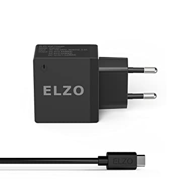 ELZO QC 2.0 Cargador Rápido 18W USB Quick Charger 2.4A para Samsung Galaxy S7 Plus, S7, Sony Xperia Z3 Compact, Z4 Tablet, Z5, HTC One M9, Google ...