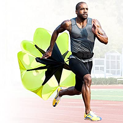 Speed and Stamina Increasing Resistance Parachute for Kids and Adults by High Pulse ideal for Agility Training, Speed Training | Speed Chute Essential for Athletic Training SMALL MED X-LARGE AVAILABLE