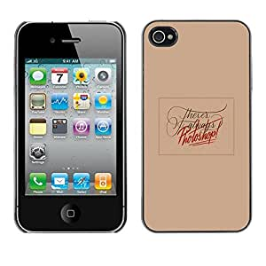 Planetar® ( Photo Editing Peach Funny Text Red ) iPhone 4 / 4S Fundas Cover Cubre Hard Case Cover
