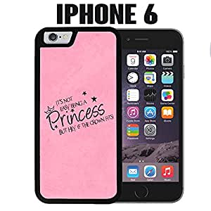 iPhone Case Cute Princess Quote for iPhone 6 Rubber Black (Ships from CA)