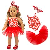 ZQDOLL 19 pcs Girl Doll Clothes Gift for American
