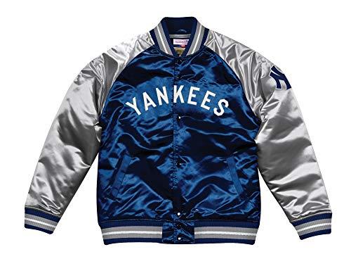 (Mitchell & Ness New York Yankees MLB Tough Season Premium Satin Jacket)