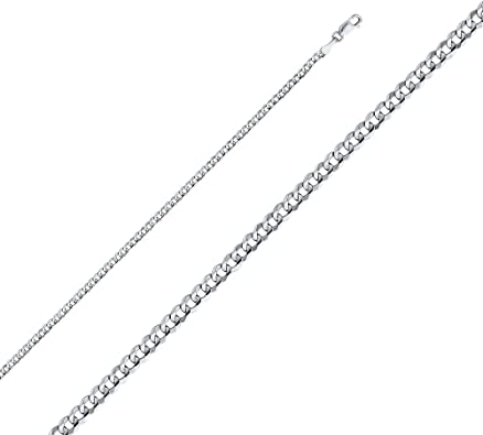 14K Yellow OR White Solid Gold 1mm Square Wheat Diamond Cut Chain Necklace with Lobster Clasp Ioka