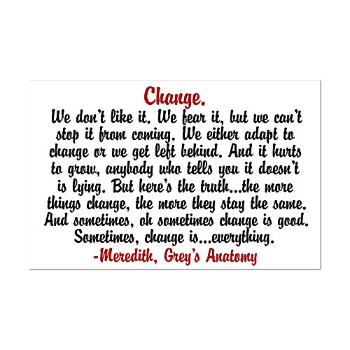 CafePress - Change Quote - Mini Poster Print