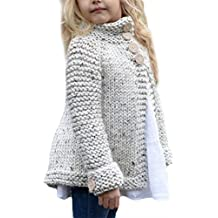 Kids Baby Girls Spring Autumn Wool Knit Sweater Casual Cardigan Coats Jackets