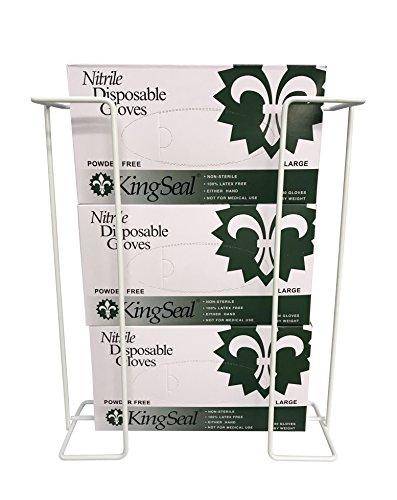 Disposable Glove 3-Box Wire Rack, Wall Mounted Universal Glove Triple Box Holder, 1 Triple Rack (Best for Larger Sized Boxes)
