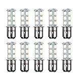 HOTSYSTEM 1154 1157 BAY15d 2057 18 LED SMD Light Bulbs For RV SUV MPV Car Turn Tail Signal Brake Light Lamp Backup Lamps Cool White 10-pack