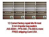 12 hand impulse sealer repair kit - TWELVE Factory Approved (12) Repair Kits For 12