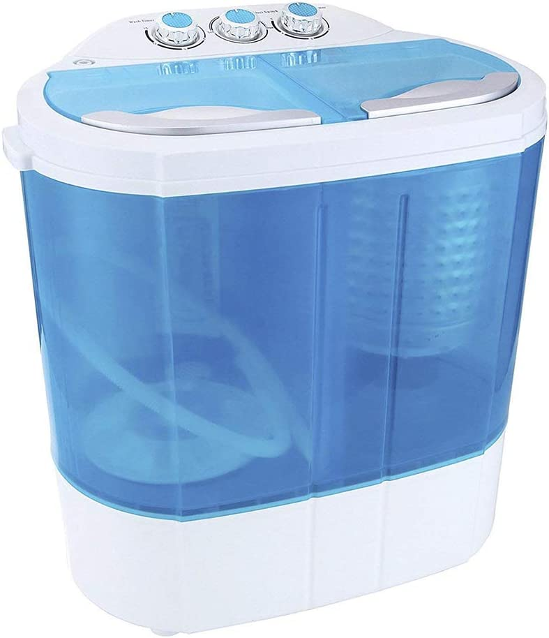 Display4top Electric Mini Portable Compact 3.6KG Capacity Washer Washing Machine Spin Dryer Laundry (blue)