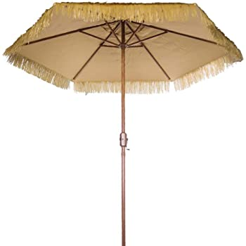 Charmant Tropical Touch Hawaiian Umbrella 9u0027 Crank Patio Umbrella Outdoor Table  Umbrella 9 Foot Tiki
