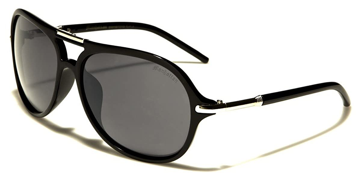 Manhattan Retro Round Aviator Sunglasses