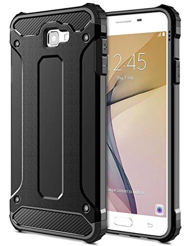 Slim Fit Hybrid Case for Samsung J5 (Black) - 6
