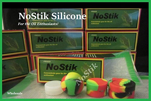 (NoStik Silicone Containers & Mats Premium Combo Box- Sm Mat, Ball, Opaque, Dbl Chmbr & Rasta Containers)
