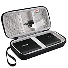 BOVKE EVA Shockproof Travel Carrying Storage Case Bag for Anker PowerCore+ 26800mAh / 20100mAh / Jackery Titan 20100 mAh Power Bank External Battery Premium Portable Charger, Black