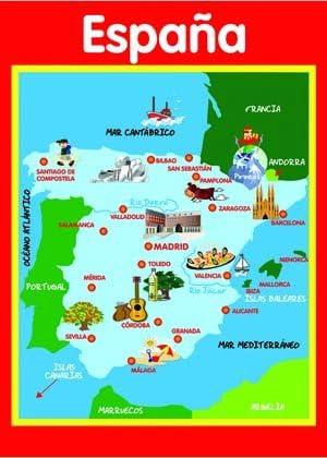 SPANISH MAP : Everything Else - Amazon.com