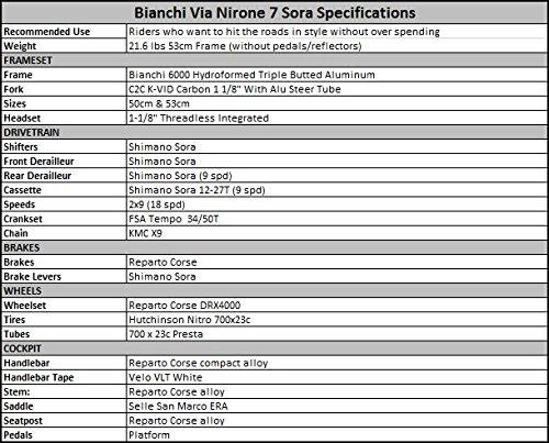 Bianchi Via Nirone Sora, Italian Racing Bike, Black - 50cm - Buy ...