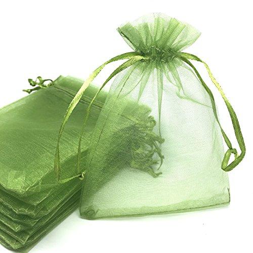 Green Organza Bags 4X6 - 1