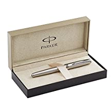 PARKER Sonnet Pen Rollerball, Roller Ball Pen Stainless Steel, Fine, 1-Boxed, Black Ink (S0809230)