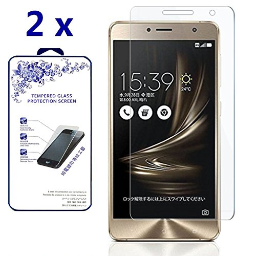 [2-Pack] Asus Zenfone 3 Deluxe ZS550KL 5.5-inch Tempered Glass, Nacodex Premium Tempered Glass Screen Protector, 2.5D Round Edge 9H ([2-Pack] For Asus Zenfone 3 Deluxe ZS550KL 5.5-inch)