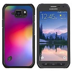 EJOOY---Cubierta de la caja de protección para la piel dura ** Samsung Galaxy S6Active Active G890A ** --borrosas luces amarillas de color púrpura colores