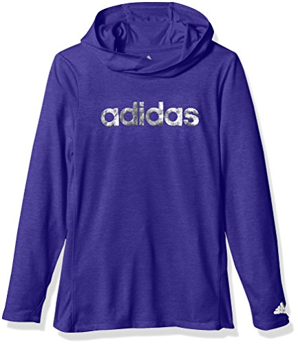 Adidas Big Girls' Performance Hoodie, Energy Ink Heather, M