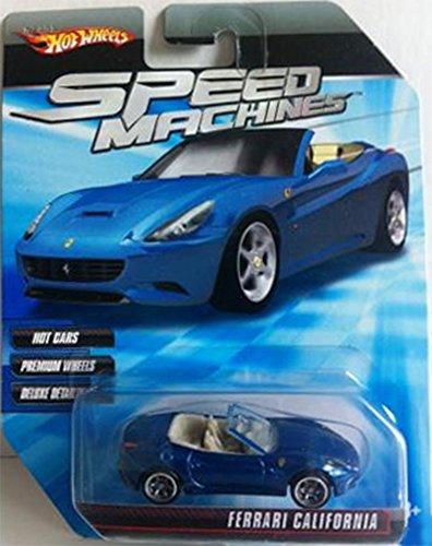Hot Wheels Speed Machines DARK BLUE Ferrari California 1:64 - Ferrari Dark Blue