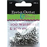 Eyelet Outlet 100-Eyelets & Washers, 1/8""