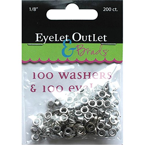 Eyelet Outlet 100-Eyelets & Washers, 1/8