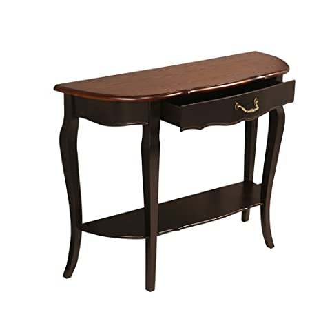 Excellent Waroom Home Hall Console Sofa Table Solid Wood Curved Legs Sofa Table Console Table Accent Table With One Drawer Trapezoid Brown Made Of Ash Wood Machost Co Dining Chair Design Ideas Machostcouk