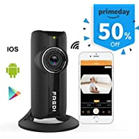 FREDI 1080P HD 185°wide angle Indoor Security Camera (WiFi / IP Camera 2MP)–WiFi Home surveillance Camera System with iOS/Android App,2-Way Audio, Motion Alerts